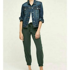 Anthropologie green on the road jogger